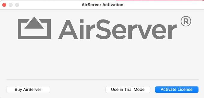AirServer.appの起動画面