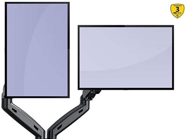 デュアルモニターの縦スタイルのイメージ
